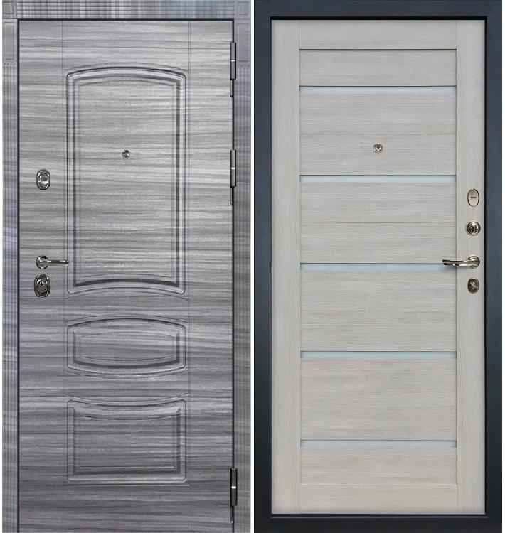 Входная Дверь Сенатор 3К Сандал серый / Клеопатра Ясень кремовый (панель №66)