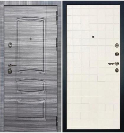 Входная Дверь Сенатор 3К Сандал серый / Белый ясень (панель №56)