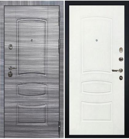 Входная Дверь Сенатор 3К Сандал серый / Белая шагрень (панель №68)