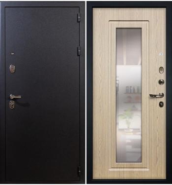 Входная дверь Рим / с зеркалом Беленый дуб (панель №23)