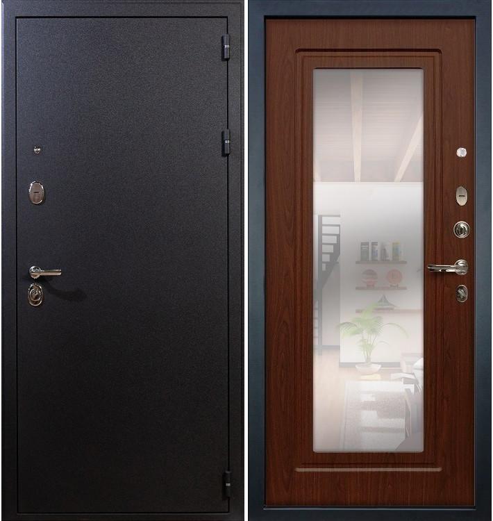 Входная дверь Рим / с зеркалом Береза мореная (панель №30)