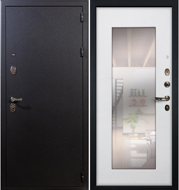 Входная дверь Рим / с зеркалом Белый ясень (панель №37)