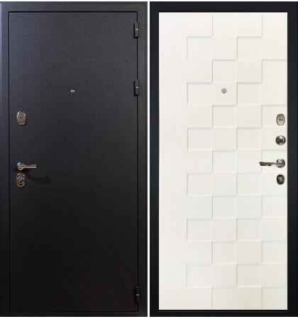 Входная дверь Рим / Квадро Белая шагрень (панель №71)