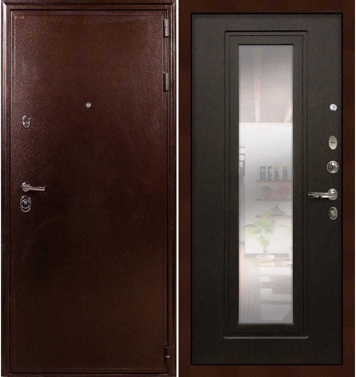 Входная дверь Цезарь 5А / с зеркалом Венге (панель №22)