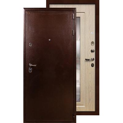 Входная дверь Лекс Цезарь 5А с зеркалом (Беленый дуб)