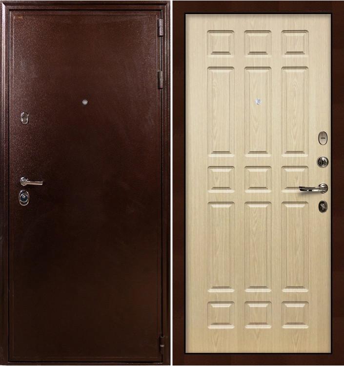 Входная дверь Лекс Цезарь 5А / Беленый дуб (панель №28)