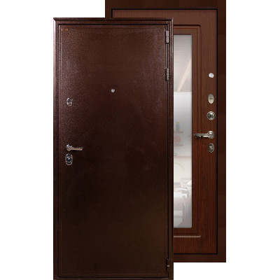 Входная дверь Лекс Цезарь 5А с зеркалом (Береза мореная)