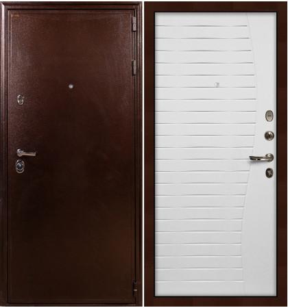 Входная дверь Цезарь 5А / Волна Белый ясень (панель №36)