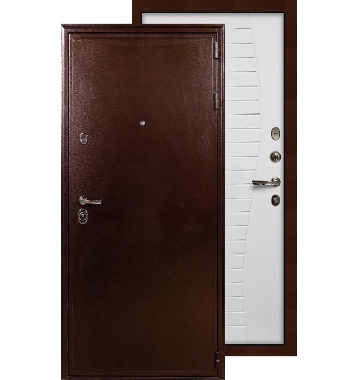 Входная дверь Лекс Цезарь 5А Волна (Белый ясень)