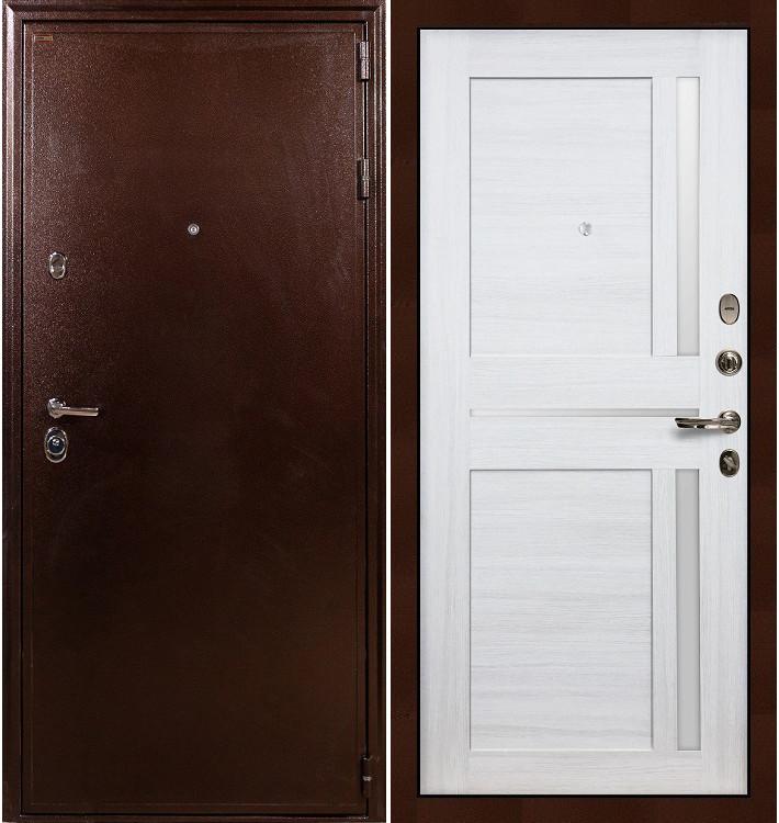 Входная дверь Цезарь 5А / Баджио Беленый дуб (панель №47)