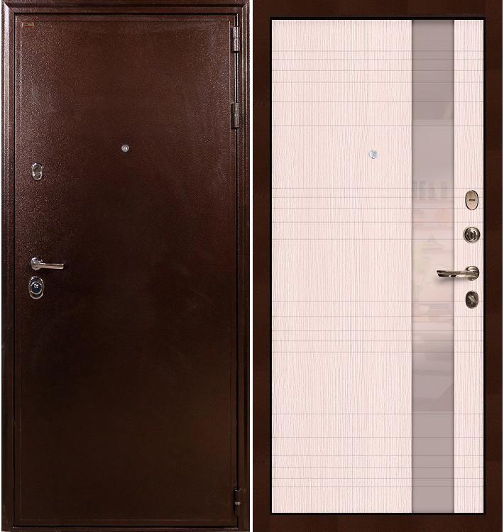 Входная дверь Цезарь 5А / Новита Беленый дуб (панель №52)
