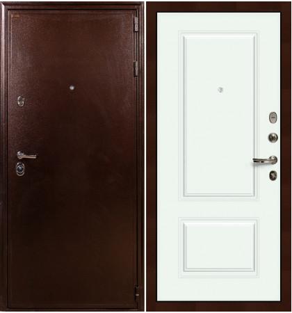 Входная дверь Цезарь 5А / Вероника Белая эмаль (панель №55)