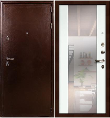 Входная дверь Цезарь 5А / Стиль Белый экошпон (панель №61)