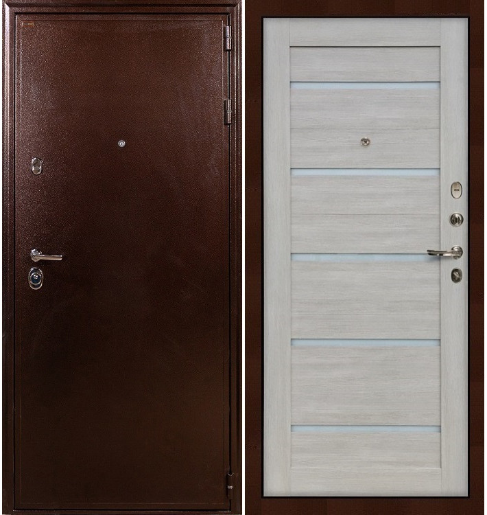 Входная дверь Цезарь 5А / Клеопатра Ясень кремовый (панель №66)