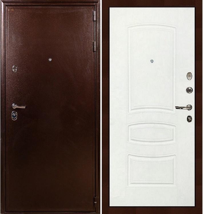 Входная дверь Цезарь 5А / Белая шагрень (панель №68)