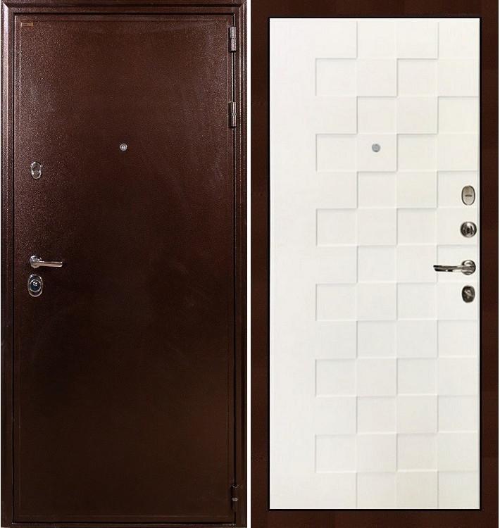 Входная дверь Цезарь 5А / Квадро Белая шагрень (панель №71)