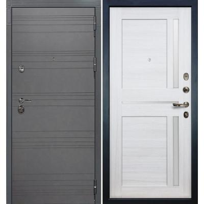 Входная дверь Лекс Сенатор 3К Графит софт / Баджио Беленый дуб (панель №47)
