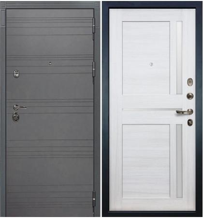 Входная дверь Сенатор 3К Графит софт / Баджио Беленый дуб (панель №47)