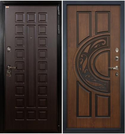 Входная дверь Гладиатор / Голден патина (панель №27)