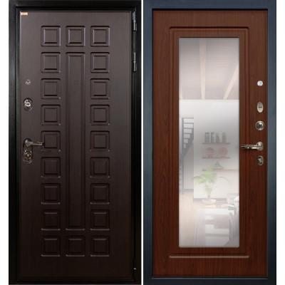 Входная дверь Лекс Гладиатор / с зеркалом Береза мореная (панель №30)