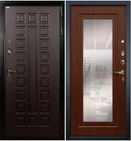 Входная дверь Гладиатор / с зеркалом Береза мореная (панель №30)