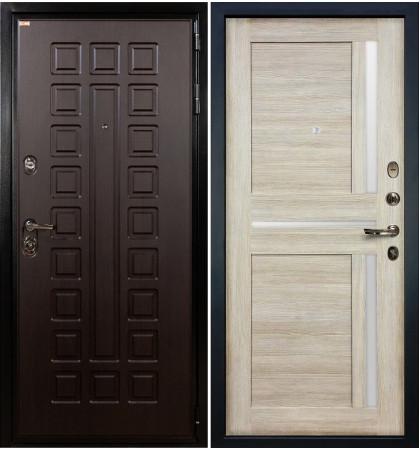 Входная дверь Гладиатор / Баджио Кремовый ясень (панель №49)