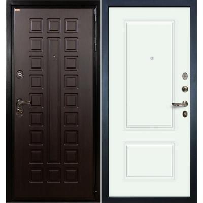 Входная дверь Лекс Гладиатор / Вероника Белая эмаль (панель №55)