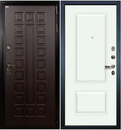 Входная дверь Гладиатор / Вероника Белая эмаль (панель №55)