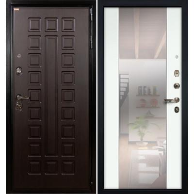 Входная дверь Лекс Гладиатор / Стиль Белый экошпон (панель №61)