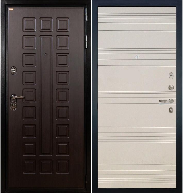 Входная дверь Гладиатор / Дуб фактурный крем (панель №63)