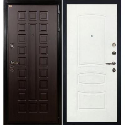 Входная дверь Лекс Гладиатор / Белая шагрень (панель №68)