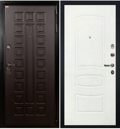Входная дверь Гладиатор / Белая шагрень (панель №68)