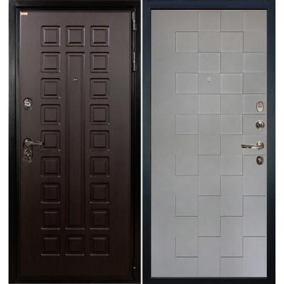 Входная дверь Лекс Гладиатор / Квадро Графит софт (панель №72)
