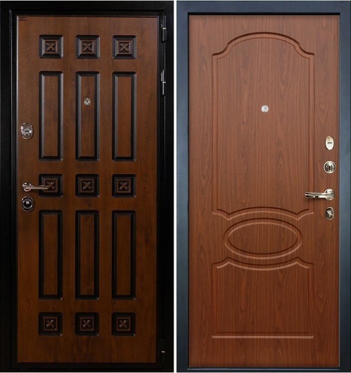 Входная дверь Лекс Гладиатор Винорит / Береза мореная (панель №12)