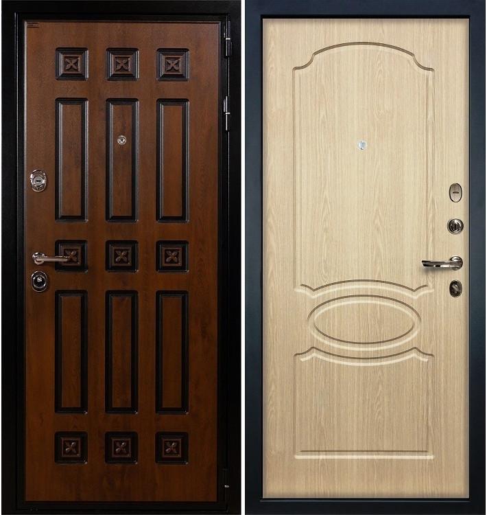 Входная дверь Гладиатор Винорит / Беленый дуб (панель №14)