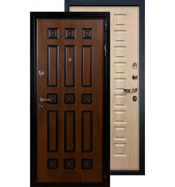 Входная дверь Лекс Гладиатор Винорит ФЛ-20 (Беленый дуб)