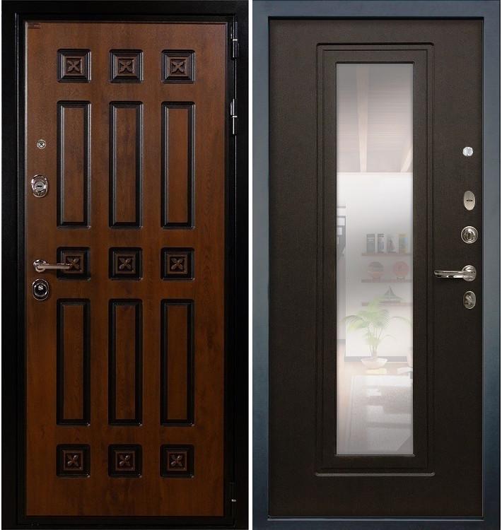 Входная дверь Гладиатор Винорит / с зеркалом Венге (панель №22)