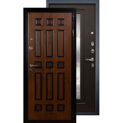 Входная дверь Лекс Гладиатор Винорит с зеркалом (Венге)