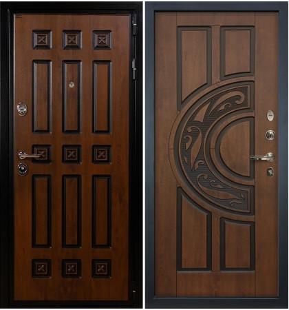 Входная дверь Гладиатор Винорит / Голден патина (панель №27)