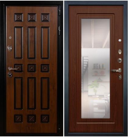Входная дверь Гладиатор Винорит / с зеркалом Береза мореная (панель №30)