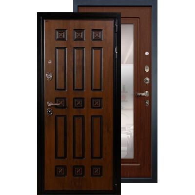 Входная дверь Лекс Гладиатор Винорит с зеркалом (Береза мореная)