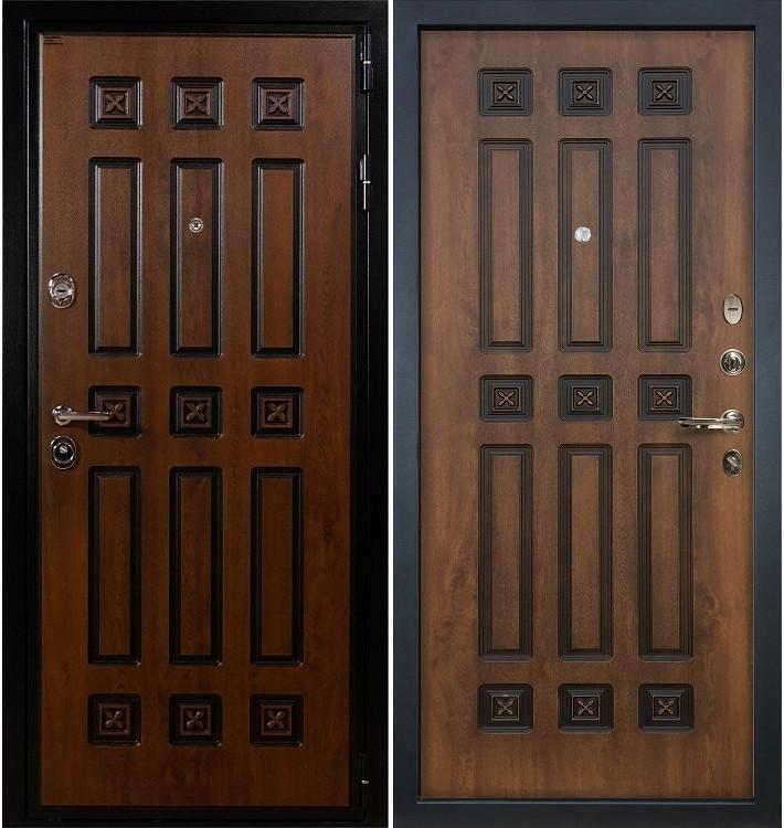 Входная дверь Гладиатор Винорит / Голден патина (панель №33)