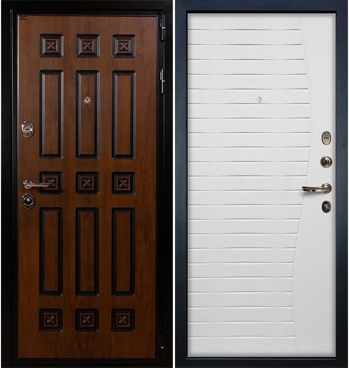 Входная дверь Гладиатор Винорит / Волна Белый ясень (панель №36)
