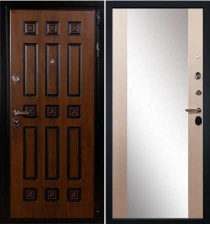 Входная дверь Гладиатор Винорит / Стиль Беленый дуб (панель №45)