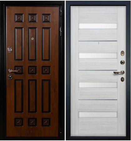 Входная дверь Гладиатор Винорит / Сицилио Беленый дуб (панель №46)