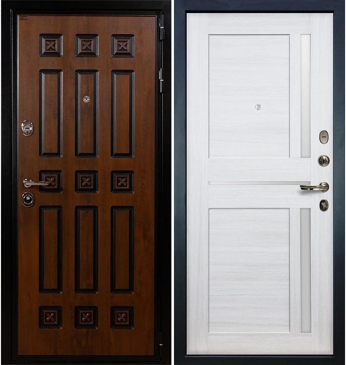 Входная дверь Гладиатор Винорит / Баджио Беленый дуб (панель №47)