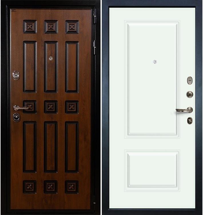 Входная дверь Гладиатор Винорит / Вероника Белая эмаль (панель №55)