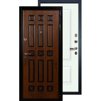 Входная дверь Лекс Гладиатор Винорит Вероника (Белая эмаль)
