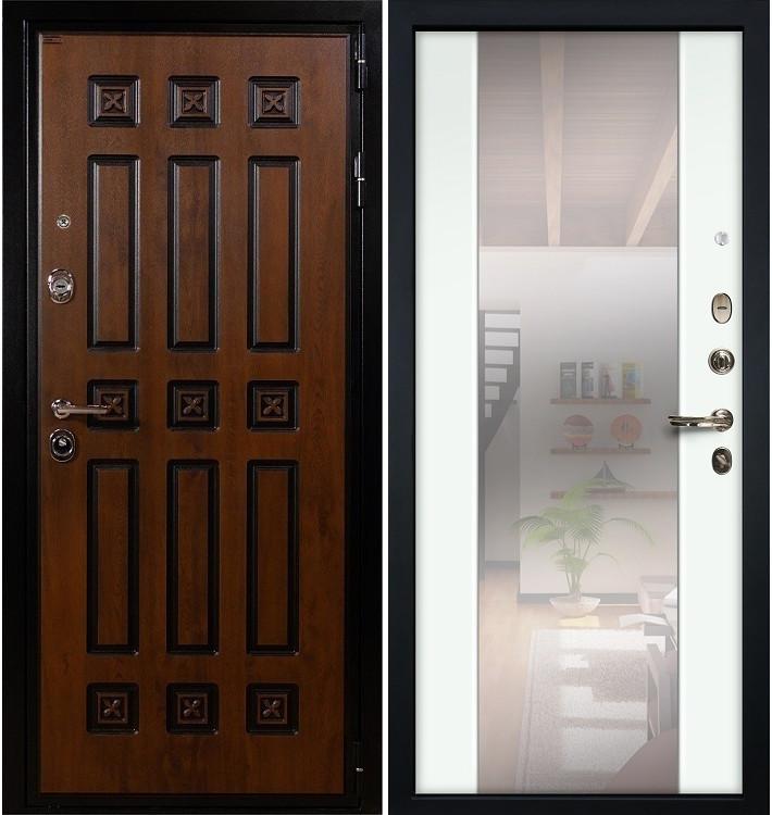 Входная дверь Гладиатор Винорит / Стиль Белый экошпон (панель №61)