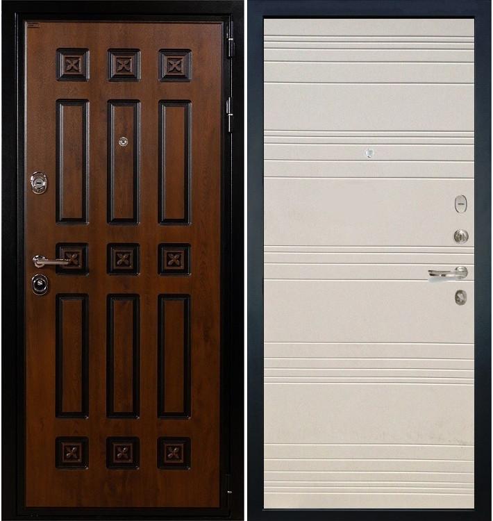 Входная дверь Гладиатор Винорит / Дуб фактурный крем (панель №63)